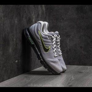 New ! Nike Air Max 2017 Grey Volt Black Mens 8-12